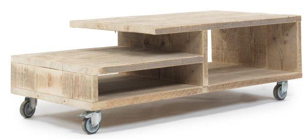 Salontafel op wielen bouwtekening voor steigerhout for Zelf meubels maken van hout
