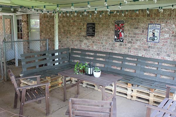 Bank Van Pallets : Pallet loungebank