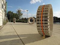 Kunst van blokken beton.