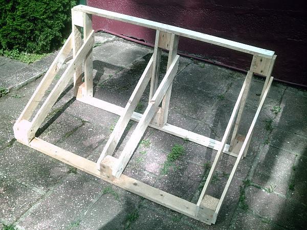 Fietsenrek maken, voorbeeld van pallets.