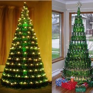bierfles-kerstboom