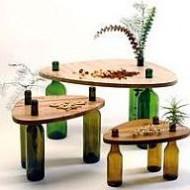 flessen-als-tafelpoot