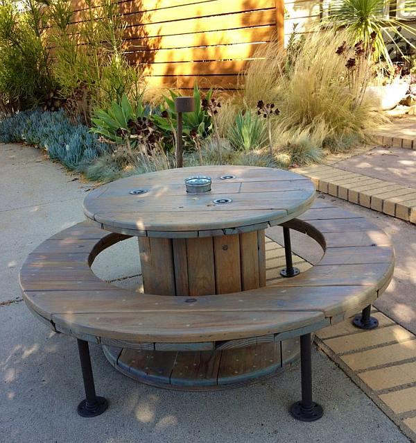 houten kabel haspel en klos hergebruik als tafels en stoelen. Black Bedroom Furniture Sets. Home Design Ideas