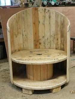 Houten kabel haspel en klos hergebruik als tafels en stoelen for Zelf tafel maken hout