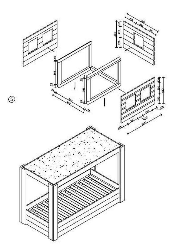Zeer Kinderbed maken, bedden van steigerhout en MDF platen. &RM05