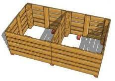 Kliko ombouw van pallets en bak voor een composthoop.
