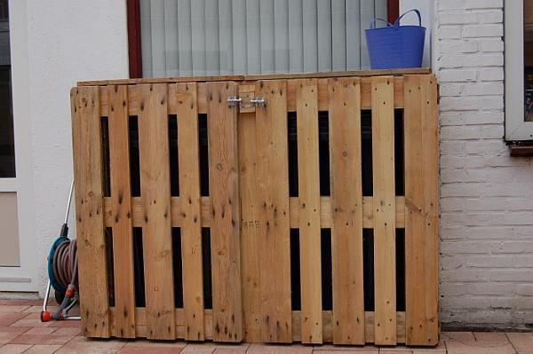 Kast voor kunststof afvalbakken, gft container ombouw.