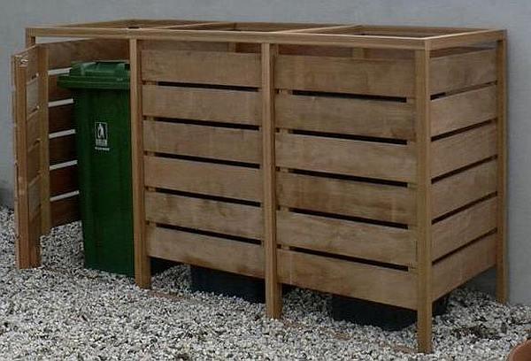 Kliko Ombouw Maken Steigerhout Kast Voor Gft Containers