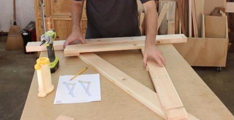De plantenbakken kun je van hetzelfde hout maken.