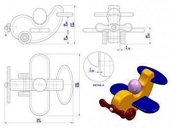 Speelgoed vliegtuigje van hout.