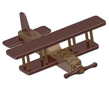 Speelgoed vliegtuig om zelf te maken.