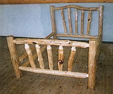 Rondhout om een bed te maken.