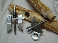 Gereedschap voor een grote pen met gat houtverbinding.