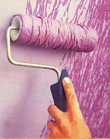 Verftechniek voor muurverf met structuur.