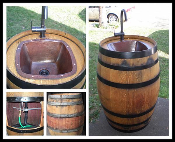 Doe het zelf voorbeeld hoe je van een wijnton een ombouw maakt voor een wasbakje.