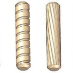 Verschillende profielen van houten deuvels.