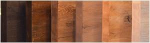 Steigerhout behandelen met beits en whitewash.