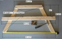 A-Frame picknicktafels, het houten model voor de tafelpoten.