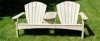 Adirondack tuinbankje voor 2 personen.