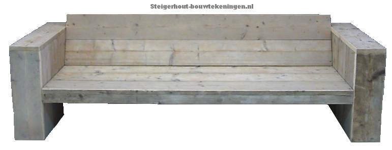 Bouwtekening loungebank steigerhout gamma
