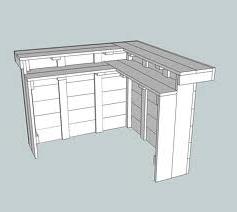 Hoekbar maken van steigerhout bars en barkrukken - Hoe je een centrum eiland keuken te maken ...