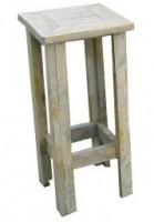 Barkruk zelf maken van steigerhout.
