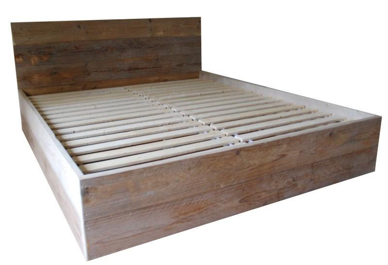 Tweepersoons bed van steigerhout zelf maken for Bed van steigerhout maken