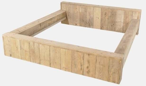 Bed maken van steigerhout ledikant gratis bouwtekening for Bed van steigerhout maken