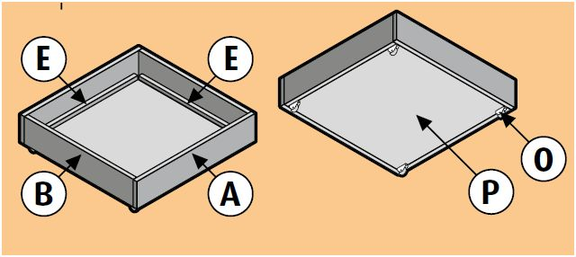 Laden maken voor onder een bankbed of kast.