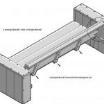 Montage van de rugleuning in de steigerhout lounge tuinbank XL, nu hoef je alleen nog maar af te werken.