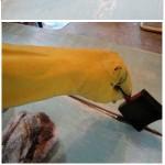 Hout verouderen met een brocante white wash en grey wash methodes.