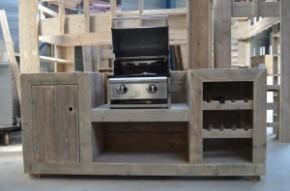 Buitenkeuken zelf maken van steigerhout.