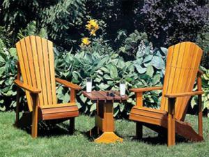 Zelf maken, Adirondack stoelen van steigerhout of sloophout.