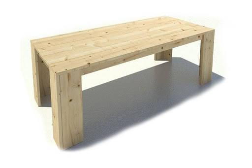 Steigerhouten eettafel huis en tuin gratis bouwtekening for Bouwtekening tafel