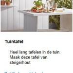 Download deze bouwtekening voor een steigerhouten tuinbank.