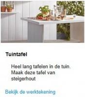 Download de pdf steigerhout bouwtekening van deze tuinbank.