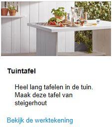 Download deze bouwtekening voor de steigerhouten tuinbank.