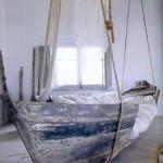 Fotogallerij met originele bedden in een boor.