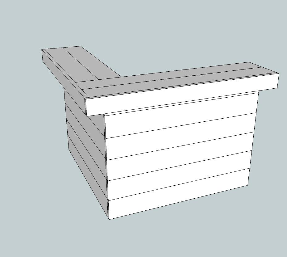 Tuinbar van steigerhout, gratis bouwvoorbeeld.