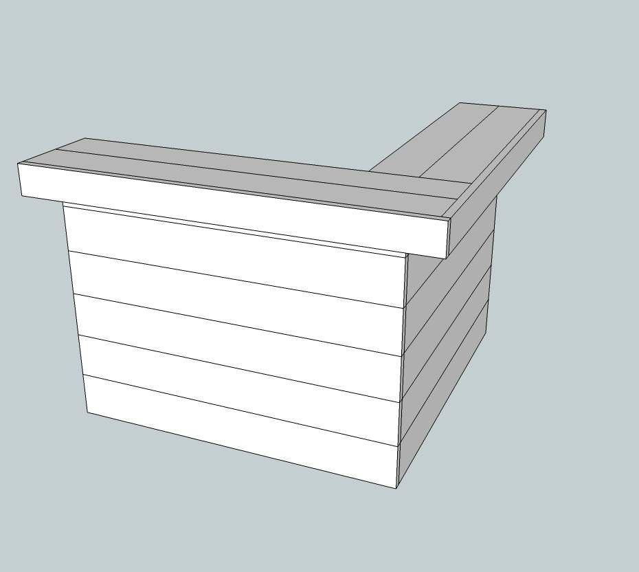 Doe het zelf bouwtekeningen voor een steigerhouten hoekbar - Hoe je een centrum eiland keuken te maken ...
