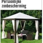 Goedkope partytent annex tuinpaviljoen, model van Hornbach.