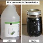 Alternatief voor houtbeits, hout kleuren met azijn en staalwol, koffie en thee.