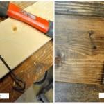 Hout oud maken azijn staalwol