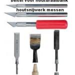 Gereedschap voor houtbewerking, beitels en messen.