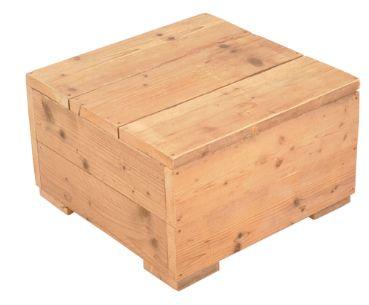 Tafel van nieuw steigerhout naar voorbeeld van de for Zelf tuintafel maken van steigerhout