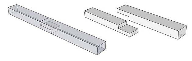 Gebruyik de rechte lip-las houtverbindingen om planken te verlengen.