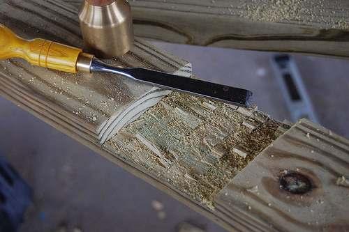 Steekbeitel voor beitelen van hout.