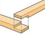 Halfhout keepverbinding houtverbindingen voor steigerhout.