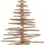 Houten kerstboom om zelf te maken.