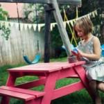 Kinderpicknicktafel, een model picknicktafel voor kleine kinderen, om zelf te maken.